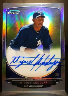 2013 Bowman Chrome Miguel Andujar Refractor Auto Autograph /500 Rc Yankees #PittsburghPirates