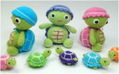 These baby turtles are made using leftover or sample motifs from making other Heidi­critters.I have created this as a separate project to document the instructions
