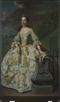 Portrait of Charlotte Beatrix Strick van Linschoten, Mattheus Verheyden, c. 1755