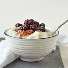 Paleo coconut porridge with a secret super healthy ingredients... a twist on the classic winter breakfast!