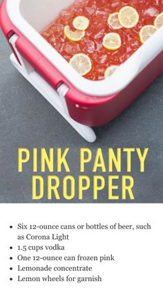 Pink panty dropper Perfect for a party