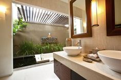 Bring the outdoors in. Great idea for a bathroom.    Get Inspired by photos of Bathrooms from Australian Designers & Trade Professionals - Home Improvement Pages