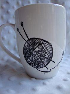Yarn Lover's Mug listing at https://www.etsy.com/listing/165733876/yarn-lovers-monogram-mug-customizable