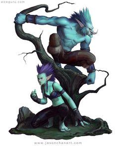 Troll Lunar Estos seres son muy inteligentes y tienen un gran vinculo con la naturaleza y vida son criaturas con las cuales puedes establecer una relación Peligro 8
