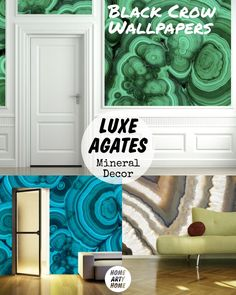Luxe Agates Mineral Decor @HomeArtyHome Home Arty Home http://homeartyhome.com/luxe-agates-mineral-decor/ @Tracy Hiner wallpaper