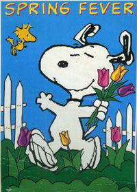 Snoopy & Woodstock have...Spring Fever!