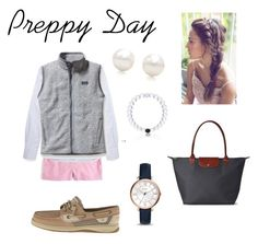 """Preppy Day!"" by sjkish on Polyvore featuring J.Crew, Maison Kitsuné, Patagonia, Sperry Top-Sider, FOSSIL, Tiffany & Co. and Longchamp"