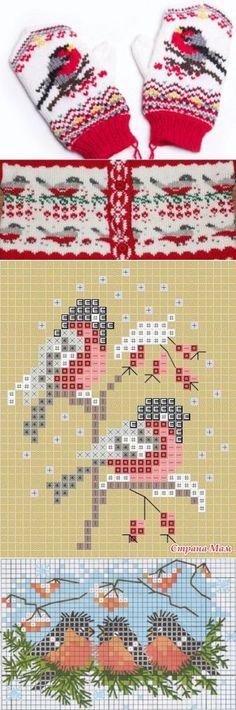 Knitting Charts, Knitting Stitches, Free Knitting, Knitting Patterns, Crochet Patterns, Fingerless Mittens, Knit Mittens, Knitting Socks, Filet Crochet