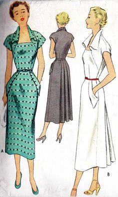1950s Misses Summer Dress