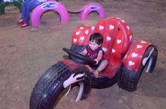 Prefeitura inaugura mais um parque de pneus reciclados em Ji-Paraná