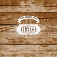 Vintage Label On Wooden Background Vector Graphic — texture, rustic, badge, retro, wood Web Design, Vector Design, Rustic Background, Textured Background, Free Wood Texture, Pub Logo, Rustic Logo, Sign Stencils, Retro Vector