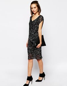 Enlarge Selected Shift Dress in Sequin and Hand Beading