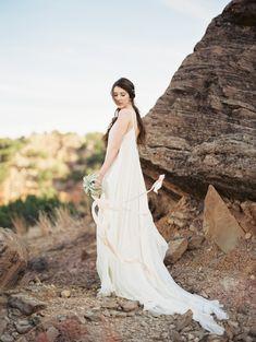 Gilded Desert Wedding Inspiration  Dress: Carol Hannah Celestine   Photographers: Kat Marcum and Becca Lea