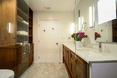Walnut Bathroom vanity and linin Lotus, Master Bath Remodel, Remodels, Double Vanity, Mirror, Bathroom, Design, Furniture, Home Decor