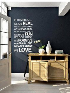 THIS! In this house.
