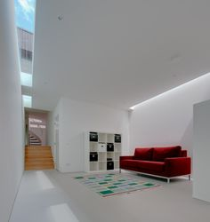 Van Buchem House is a private residence located in Rotterdam, South Holland and designed by Siebold Nijenhuis Architect Arch Interior, Interior Architecture, Interior Design, Self Build Houses, Comfy Sofa, White Rooms, Concrete Floors, Design Projects, House Design