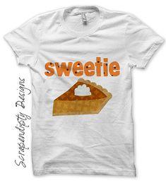 Iron on Thanksgiving Shirt PDF - Pumpkin PIe Iron on Transfer / Sweetie Pie Tshirt / Cute Girls Toddler / Baby's First Thanksgiving IT86-C on Etsy, $2.50