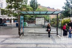 Prague Bus Stop by Thomas Marchessault