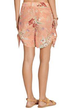 ZimmermannAnais floral-print cotton and silk-blend voile shortsoutfit
