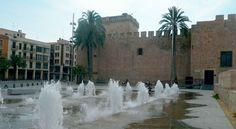 Our #GrisPulpis #marble on the pavement of the Alcázar de la Señoría's square in Elche (Spain)