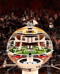 Urban Sphere by John Berkey.  #FutureUrban  #JohnBerkey
