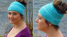 Katniss Messy Bun Hat Pattern by Bella Haken & Zoo.