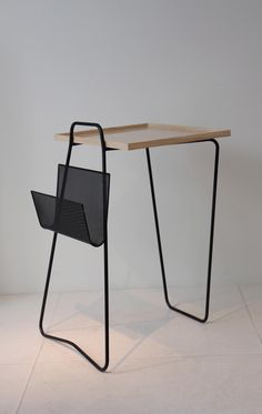 Mathieu Mategot ,Table, ash top, laquered metal, 1957