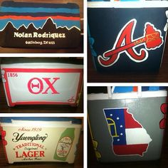 Mountain Weekend cooler crafting!