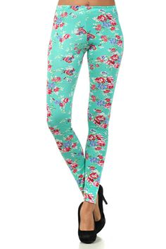 Floral Leggings www.gatzino.com -  For more amazing deals visit us at http://www.brides-book.com/#!brides-book-outlets/ck9l and remember to join the VIB Ciub