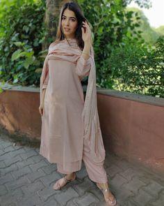 Nude Pink Gota Work Kurta Set - Set of Three by The Hemming Bird Silk Kurti Designs, Kurti Designs Party Wear, Kurta Designs Women, Pakistani Dress Design, Pakistani Dresses, Indian Dresses, Indian Wedding Outfits, Indian Outfits, Casual Indian Fashion