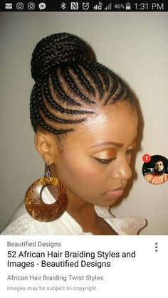 Cornrow Updo Hairstyles for Black Women Cornrow Updo Hairstyles For Black Women posted on Braids Hairstyles. African American Braided Hairstyles, African American Braids, Braided Bun Hairstyles, Braided Hairstyles For Black Women, African Braids Hairstyles, Girl Hairstyles, Bun Updo, Braided Updo, Summer Hairstyles
