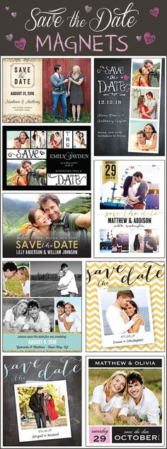 Choose from over 70 unique Save The Date Magnet designs! Find one that matches your theme and color scheme perfectly.