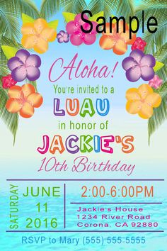 Full size of templatesurprise birthday party invitations simple luau birthday invitation click on the image twice to place orders or follow me on stopboris Images