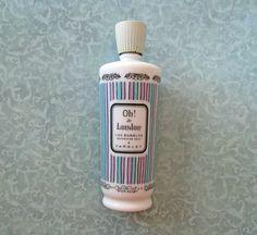 Vintage Yardley Oh! de London Luv Bubbles Waterfoam Bath. It is 7 1/4th inches tall. The bottle is empty.
