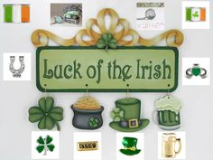 Luck of the Irish Ornaments & Banner pattern packet Create Your Story, South Hill Designs, Locket Charms, Luck Of The Irish, Lucky Charm, St Patricks Day, Wood Crafts, Create Yourself, My Design