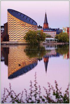 ღღ Tycho Brahe Planetarium reflections at Dusk - Copenhagen (Denmark) (HDR) by Jaafar Mestari, via Flickr