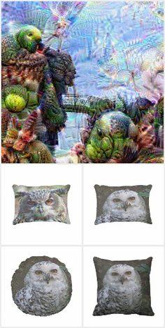 DeepDream, Pillows, Poufs ...