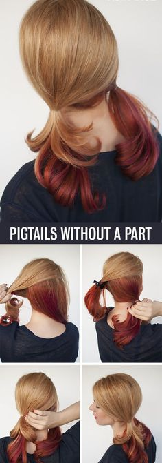 If you love wearing #pigtails, but don't like the part in the middle, then I have the fix for you.