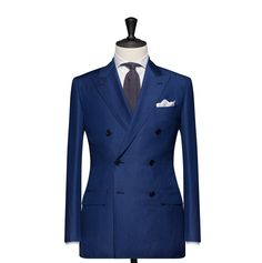 Tailored 2-Piece Suit – Fabric 4588 Check Blue Cloth weight: 230g Composition: 68% Wool 25% Linen and 23% Mohair