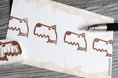 puppy rubber stamp schnauzer stamp dog rubber by byhoneysuckle