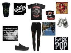 """""""Five Finger Death Punch"""" by demonlover2002 ❤ liked on Polyvore featuring Converse"""