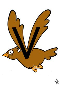 V van vogel Alphabet Letter Crafts, Letter V, Grade R Worksheets, School Tool, All Schools, Home Activities, Toy Organization, Kids Learning, Spelling