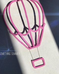 NEW NEW NEW 💫 Hot-air balloon ❤️ Such a sweet decoration for your 👶🏻's room✨ I hope you'll like it as much as I do 🌸 DM me for more… Crochet Kids Hats, Crochet Baby, Knit Crochet, Irish Crochet, Crochet Basket Tutorial, Childrens Teepee, Spool Knitting, Passementerie, Crochet Bracelet