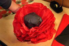 Lyanda Lynn Haupt's Blog - How to Make a Giant Magical Paper Flower Poppy Garden - July 01, 2012 18:26