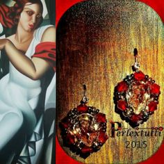 Red Prince Paloma - Earrings Pattern Tutorial ITALIAN LANGUAGE by Perlextutti on Etsy