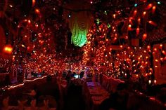Panna II, a small, but great Indian Restaurant in New York decorated with Christmas lights