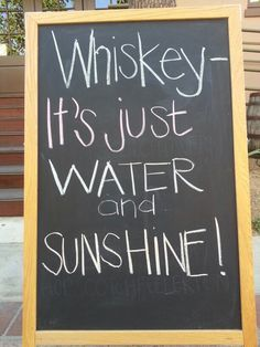 Good Whiskey is just great Spirit, Water, Scotch Malt, Caramel and some secret ingredients. And yes Sunshine lots and lots of Sunshine! Whiskey Girl, Good Whiskey, Innocent Drinks, Whiskey Quotes, Sunshine And Whiskey, The Munsters, Drinking Quotes, Life Words, Bar Signs