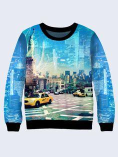 Mens 3D-print sweatshirt - New York City.  #Menshoodie #malesweater #youthfulsweatshirt #3Dprintimage #cardigan #pullover #Longsleeve #hoody #NewYorkCity