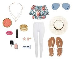 """"""""""" by ferponm on Polyvore featuring Topshop, Elizabeth and James, Aéropostale, Ray-Ban, Michael Kors, ABS by Allen Schwartz, Chanel, Lime Crime and Milani"""