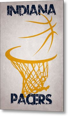 Pacers Metal Print featuring the photograph Indiana Pacers Hoop by Joe Hamilton